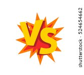 versus letters or vs logo sign... | Shutterstock . vector #524654662