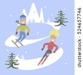 comic concept flat design.... | Shutterstock .eps vector #524657746