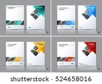 business vector set. brochure... | Shutterstock .eps vector #524658016