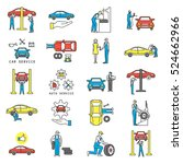 auto service and maintenance... | Shutterstock . vector #524662966