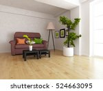 white room with sofa. living... | Shutterstock . vector #524663095