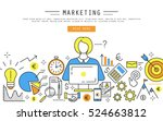 marketing and finance linear... | Shutterstock . vector #524663812