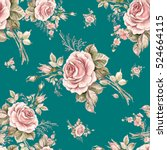 watercolor seamless pattern... | Shutterstock . vector #524664115