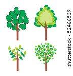 stylized tree   Shutterstock .eps vector #52466539