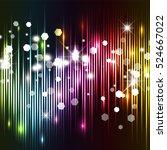 abstract chrismas lights... | Shutterstock . vector #524667022