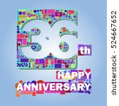 36 happy anniversary abstract... | Shutterstock .eps vector #524667652
