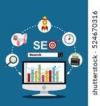 flat illustration web analytics ...   Shutterstock .eps vector #524670316
