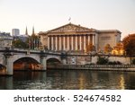 Small photo of Assemblee Nationale (National Assembly) in Paris, France at sunrise