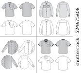 long  short sleeved man's... | Shutterstock .eps vector #524675608