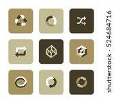 vector flat icons set  ... | Shutterstock .eps vector #524684716
