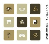 vector flat icons set  ... | Shutterstock .eps vector #524684776