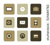 vector flat icons set   gadgets ... | Shutterstock .eps vector #524684782