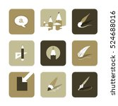 vector flat icons set   art...
