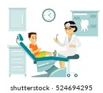 medicine dental concept  in... | Shutterstock .eps vector #524694295