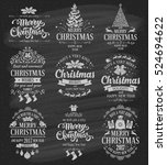 merry christmas and happy new... | Shutterstock .eps vector #524694622