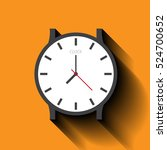 simple clock flat icon. vector... | Shutterstock .eps vector #524700652