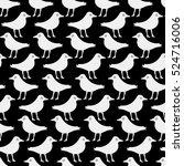 seamless pattern with a bird in ... | Shutterstock .eps vector #524716006