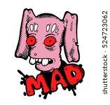 funny scary creepy stylish...   Shutterstock .eps vector #524723062