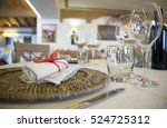 restaurant table ready for... | Shutterstock . vector #524725312