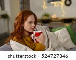 thoughtful serious young... | Shutterstock . vector #524727346