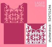 laser or die cut envelope... | Shutterstock .eps vector #524731246