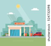 gas station. oil  fueling... | Shutterstock .eps vector #524732098