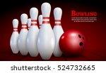 bowling realistic illustration...