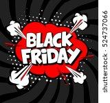 black friday vector design with ... | Shutterstock .eps vector #524737066