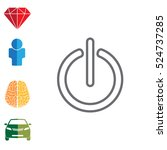 power on off line icon.