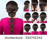 tutorial photo step by step of... | Shutterstock . vector #524742142