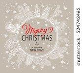 christmas poster   illustration.... | Shutterstock .eps vector #524743462