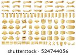 ribbon banner label gold vector ... | Shutterstock .eps vector #524744056