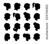 Set Of Women Profiles...