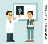 medicine concept with doctor... | Shutterstock .eps vector #524745832