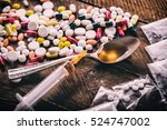 drug use and prohibited... | Shutterstock . vector #524747002