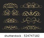 vintage decor elements and... | Shutterstock .eps vector #524747182