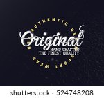 original vintage typography for ... | Shutterstock .eps vector #524748208