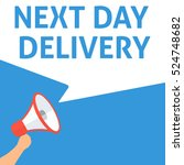 next day delivery announcement. ... | Shutterstock .eps vector #524748682