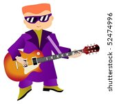 rock musician | Shutterstock .eps vector #52474996