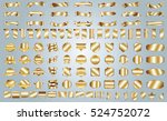 label ribbon banner gold vector ... | Shutterstock .eps vector #524752072