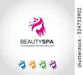 beauty spa logo template... | Shutterstock .eps vector #524753902