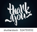 thank you lettering. hand... | Shutterstock .eps vector #524755552