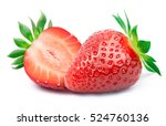 perfectly retouched strawberry... | Shutterstock . vector #524760136