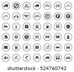 transport icons | Shutterstock .eps vector #524760742