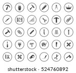 tools icons | Shutterstock .eps vector #524760892