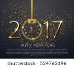vector 2017 shiny new year... | Shutterstock .eps vector #524763196