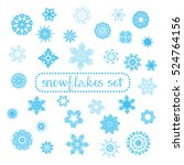 Snowflakes collection for your projects. Useful for Christmas cards,  stencil design or laser cut templates. Vector illustration