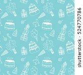 happy birthday background....   Shutterstock . vector #524770786