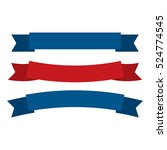 fourth of july ribbons ... | Shutterstock .eps vector #524774545