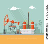 ecology concept   oil industry... | Shutterstock .eps vector #524778832